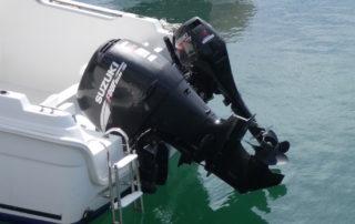 Motor fueraborda de barco